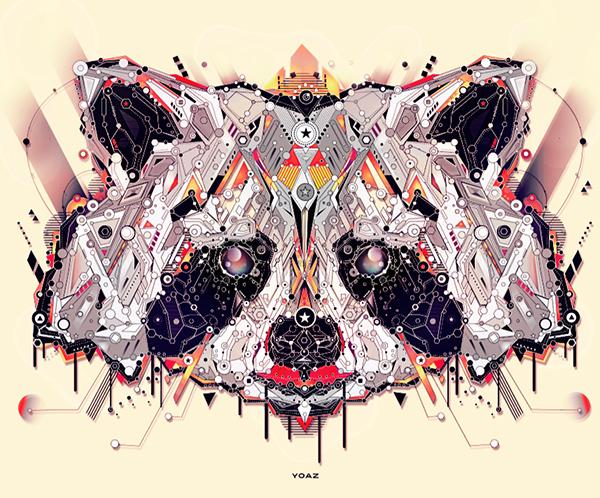 デザインされたレッサーパンダの動物壁紙
