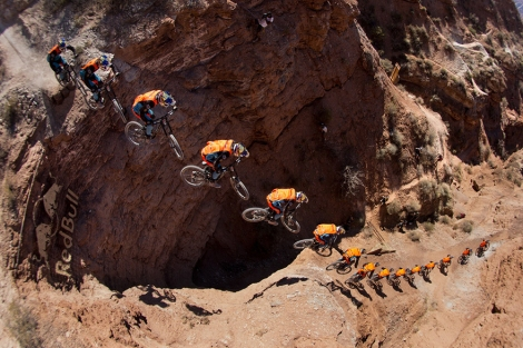 Rider: Brandon Semenuk Location: Virgin, Utah - Red Bull Rampage
