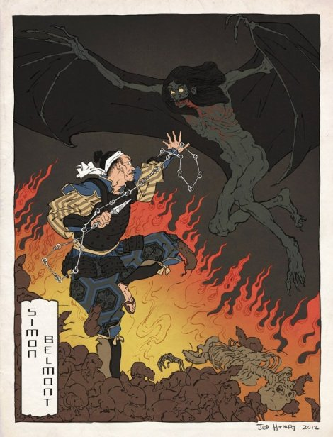 castlevania_japanese_ukiyo_e_by_thejedhenry-d52lmel