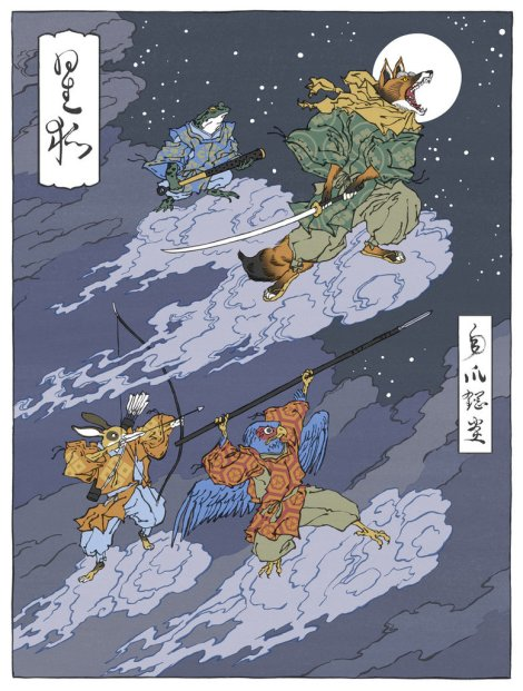 star_fox_as_a_japanese_ukiyo_e_by_thejedhenry-d554zol