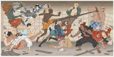 street_fighter_japanese_ukiyo_e_by_thejedhenry-d52lm1i