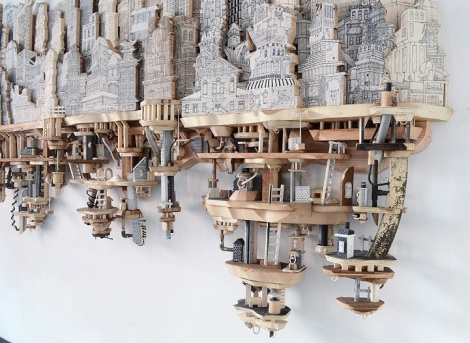 Miniature-Cities-Built-with-Carvings-and-Illustration-1